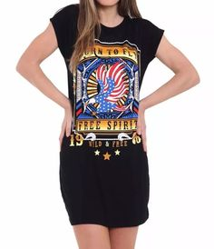 Contrast Born To Fly Print Tee