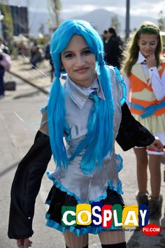 Miku Hatsune Cosplay from Vocaloid in LUCCA COMICS AND GAMES 2012 Italy