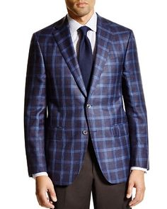 Jack Victor Loro Piana Plaid Classic Fit Sport Coat - 100% Bloomingdale's Exclusive