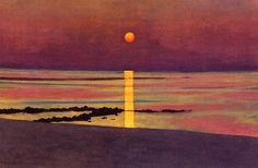 "Félix Vallotton (Swiss (1865-1925)  ""Sunset"""