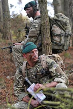 Royal Marine Commandos on Exercise in British Woodland by Defence Images, via Flickr