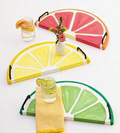 DIY Colorful Citrus Serving Tray for Summers