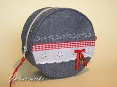 Round zip bag - Tutorial