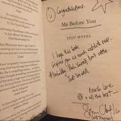 "…which included a beautiful inscription from Will Traynor himself. | 24 Times The ""Me Before You"" Cast Scored Themselves On Your Heart"