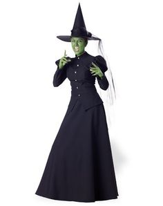 Theatrical Quality Deluxe Green Witch Adult Women's Costume
