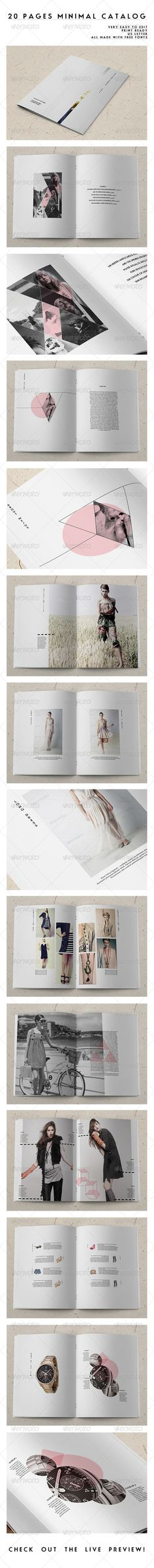 20 Pages Minimal Catalog - Catalogs Brochures | typography / graphic design @ envato |                                                                                                                                                                                 Más