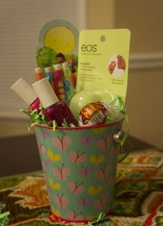Fill a small themed easter basket for teens filled with pretty pink fill a small themed easter basket for teens filled with pretty pink items perfect for friends the babysitter or take to church pin to your easte negle Image collections
