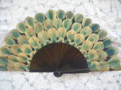 peacock style hand painted spanish fan free shipping by txiquisan