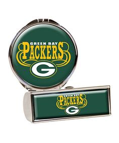 This Green Bay Packers Lipstick Case & Compact Mirror by Great American Products is perfect! #zulilyfinds