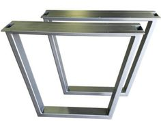 This listing is for a SET of custom Bradley metal table legs. They are typically 34 - 40 wide & 28 - 30 tall, but can be offered in whatever size you need. Since we build each one to order, email us for specific sizes. Note: this listing is for the legs only. Some custom tops can be ordered to go with our legs, shoot us a message with what youre interested in and well reply back with a suggestion. Materials used: - 2x4 tubing for the frame - 1/4x1 straps used at the top for mounting purposes…
