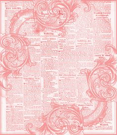 pink newsprint