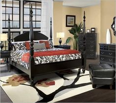 like the black bedroom set furniture, dont care to much for selection of rug, clashes