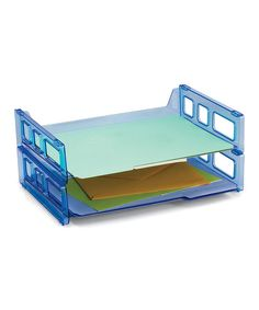Look at this Officemate Transparent Blue Glacier Stackable Letter Tray - Set of Two on #zulily today!