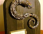 Severed Mechanical Tentacle - Specimen No.351 - Steampunk Industrial Plaque