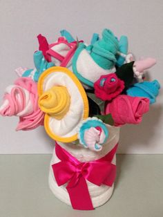 Gorgeous baby bouquets for baby showers by Tokenoflove2014 on Etsy