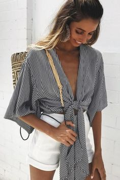 Amazing 30 V-neck and Straps Design for Summer Outfit http://inspinre.com/2018/06/29/30-v-neck-and-straps-design-for-summer-outfit/
