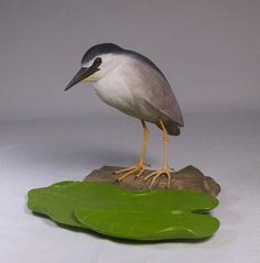 55/8 inches Night Heron Hand Carved