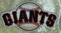 """San Francisco SF Giants 3.5"""" Iron On Embroidered Patch ~FREE Ship!!~ #sfgiants #SanFranciscoGiants"""