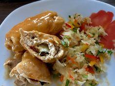 Roladki drobiowe z mozzarellą - Blog z apetytem Pesto, Mozzarella, Food And Drink, Lunch, Chicken, Ethnic Recipes, Dinners, Drinks, Diet