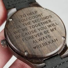 Wedding Gift Ideas Coffee Brown Personalized Men Watch Wedding Gift for Bride from Groom Custom Name Engraved Watch Wooden Watch Wood Watch Anniversary Wedding Gifts For Bride, Wedding Advice, Personalized Wedding Gifts, Bride Gifts, Plan Your Wedding, Wedding Day, Wedding Venues, Wedding Planning, Wedding Reception
