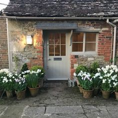 Posts about Garden written by Charlotte-Anne Fidler Cottage Front Doors, Cottage Door, Cottage Front Garden, Cottage Patio, Cottages Anglais, White Gardens, French Cottage, Back Doors, House Front