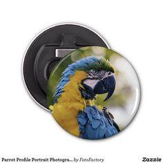 Parrot Profile Portrait Photograph Bottle Opener