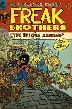 """Underground comics (or """"comix"""") are small press or self-published comic books that first emerged in the They came about as an artistic response to … Underground Comics, Comic Book Covers, Comic Books Art, Gilbert Shelton, Pop Art, Bd Comics, Classic Comics, Illustrations, Vintage Comics"""