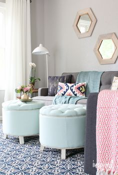 Living Room Fall Makeover Reveal   inspiredbycharm.com #LowesFallMakeover