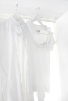 Two Hanging White Shirts FROM: knick knacks