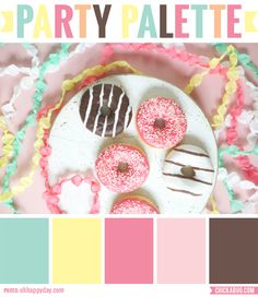 Fun color palette, inspired by donuts :) #colorpalette
