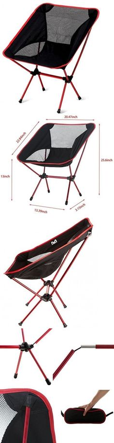 Camping Furniture 16038: Amor Ultralight Portable Folding Camping Chairs  Perfect For Hiking Fishing The