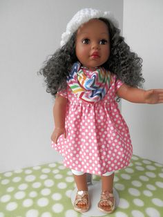 American Girl Doll Clothes  Pretty in Pink Outfit by MyGrandmaSews, $19.00