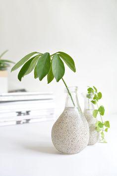 DIY faux stone vases