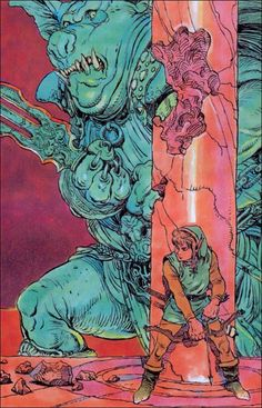 Zelda illustration by Katsuya Terada