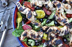 Greek chicken n salad