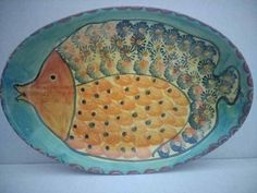 Yellow Red Blue Roses The Latest Fashion Made In Italy Frugal Ceramica Due Torri Serving Platter