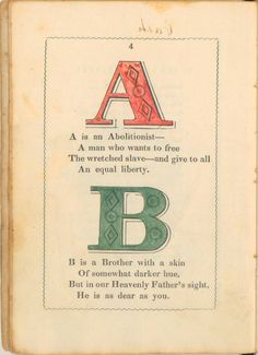 The Anti-Slavery Alphabet: A Remarkable 1846 Primer for Children ~ Kuriositas