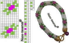- Her Crochet Crochet Bracelet Pattern, Crochet Beaded Bracelets, Bead Crochet Patterns, Bead Crochet Rope, Bead Loom Bracelets, Beaded Jewelry Patterns, Beading Patterns, Seed Bead Bracelets Tutorials, Beaded Bracelets Tutorial