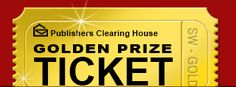 Golden Prize Ticket -- Publishers Clearing House