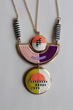 by Veruschka, a Bolivian woman, raised in Germany & Bolivia now a citizen of the world. A former Software Engineer turned soul-centered, polymer clay jewelry designer and maker. Wit & Delight – Set of Necklace & Bracelet | VeruDesigns, LLC