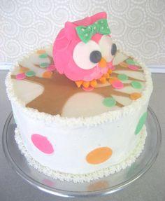 Owl Cake Topper INSTA-CAKE Cake Kit - Edible Fondant Cake Topper with Polka Dot Decorations