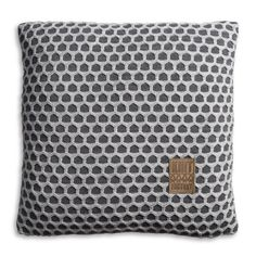 Pillow 50x50 - Mila VZ antra / light grey by Knit Factory www.knitfactory.nl