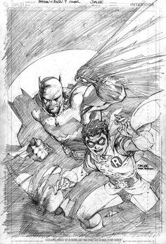 Comic Book Artists, Comic Artist, Comic Books Art, Jim Lee Batman, Batman Robin, Batman Drawing, Batman Art, Dc Comics, Jim Lee Art