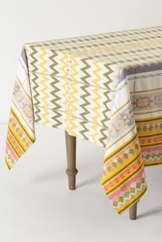 Cute Anthropologie tablecloth.
