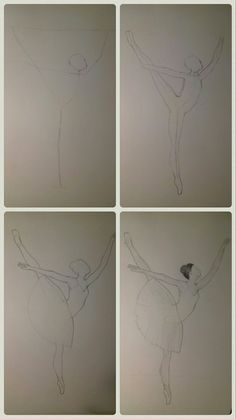 Draw a ballerina in four steps