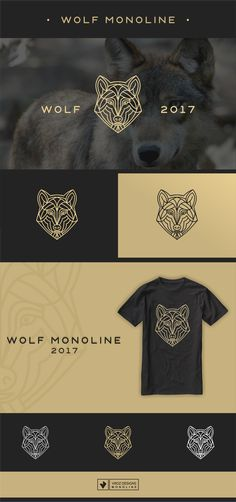 "Check out my @Behance project: ""wolf monoline"" https://www.behance.net/gallery/60137159/wolf-monoline"