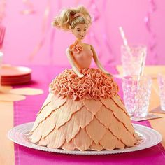 Make a little girl's birthday party unforgettable with this dazzling doll cake! It's easy to create the flowing dress shape with the Wonder Mold pan. The petal-like trim is made using Decorator Preferred Fondant and Geometric Fondant Cut-Outs. Birthday Cake Clip Art, Happy Birthday Cakes, Birthday Cake Girls, Birthday Ideas, Wilton Cake Decorating, Cake Decorating Tools, Decorating Ideas, Craft Ideas, Easy Birthday Desserts