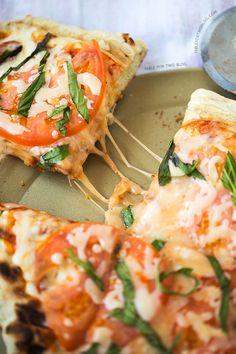 Grilled Caprese Pizza