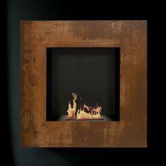 Lotus I Wall Mount Liquid Fuel Fireplace