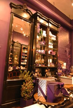 Vosges Chocolate Shop @ Soho ...I'm really liking the purple and brown color scheme